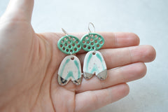 Turquoise tulip earrings