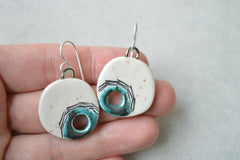 Slightly flawed - Turquoise hole earrings