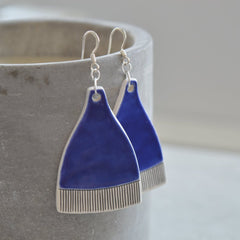 Dangle earrings - Royal blue
