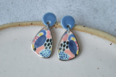 Handpainted colourful earrings II