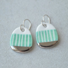 Small turquoise drop earrings