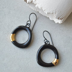 Little black hoops