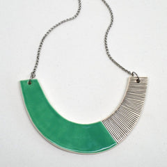 Ceramic statement necklace - Turquoise