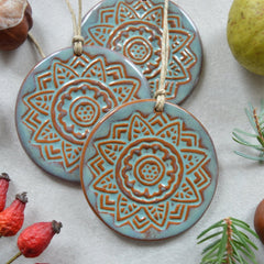 earthy ceramic christmas decorations