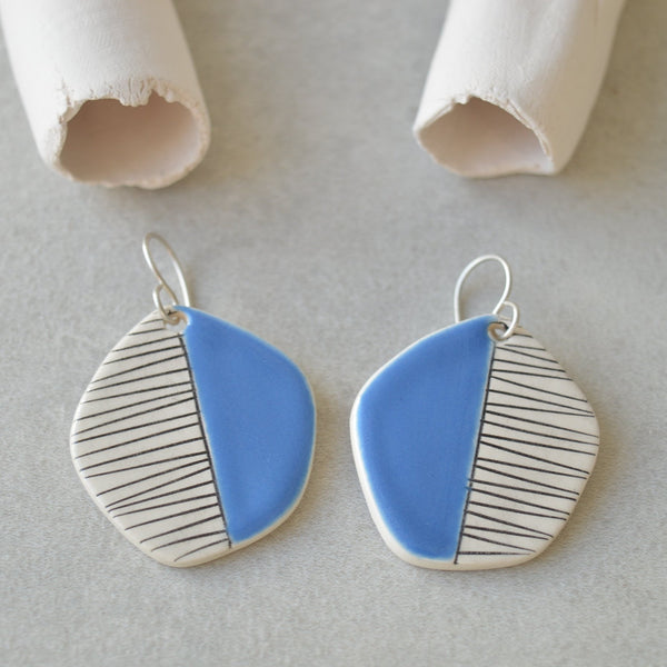 Blue kite earrings