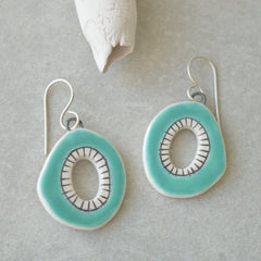 Turquoise little hoops