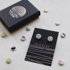 Everyday small circle stud earrings