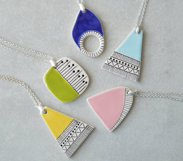 Medium Long Ceramic pendants