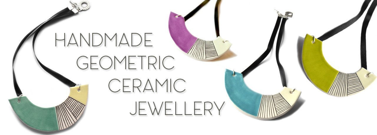 Handmade geometric ceramic jewellery