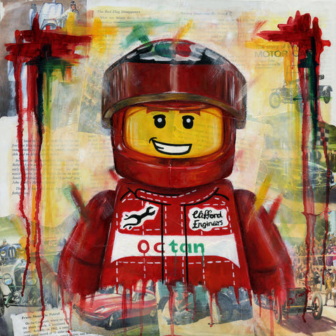 Portrait Of A Racing Driver