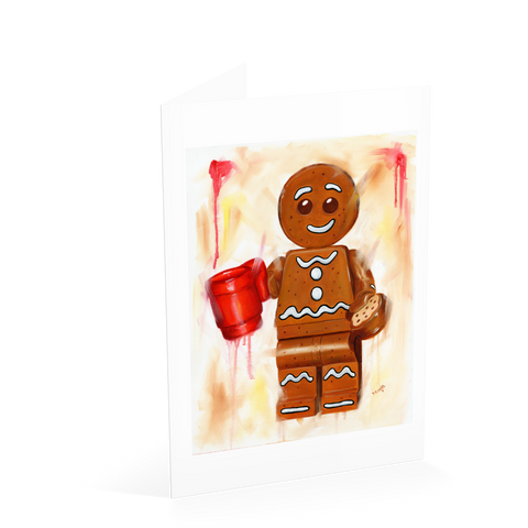 Gingerbread man - Dunk Me Card