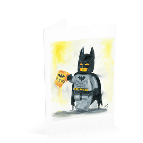 Batman Rocks Card