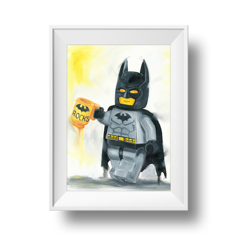 Batman Rocks Print