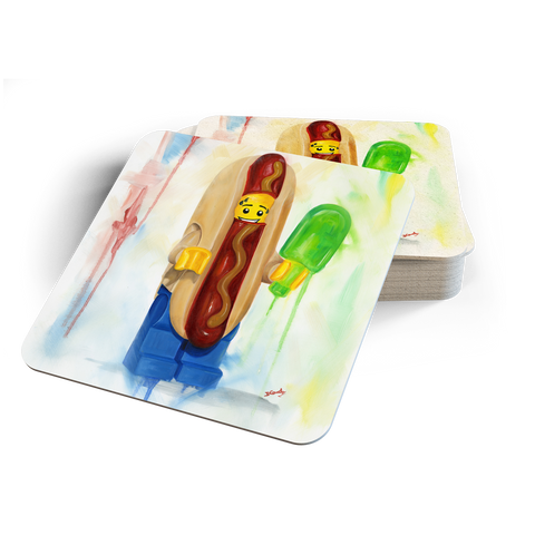 Hot Dog Coasters