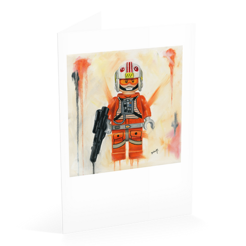 Luke the Rebel Fighter Card