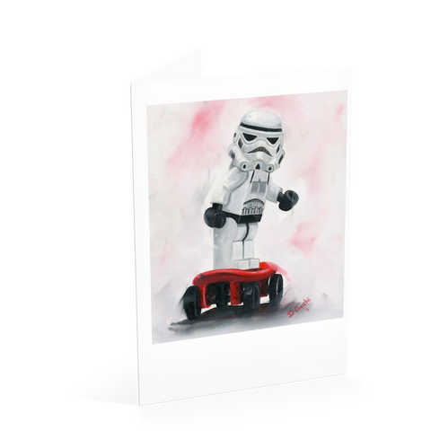 Skateboarding Trooper Card