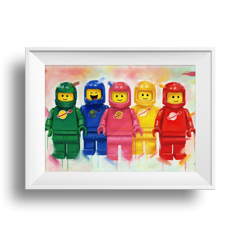 Space men  - Benny's Crew Print