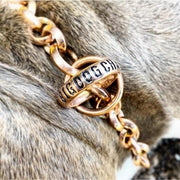 CHECKO_Gold_Training_Collar_Unique_Stainless_Steel_Link_Design_Super_Strong_Chocker_for_Large_XL_Dogs_Like_XL_Bully_Rottweiler_Great_Dane_Labrador_Presa_Canario_and_More_BIIG_DOG_CHAINS