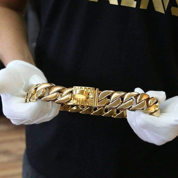 Kilo Gold Dog Collar Cuban Link - BIG DOG CHAINS