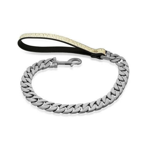 NATO Dog Leash Luxury Cuban Link Custom Matte FinishLeash made of Stainless Steel for Large Dogs - BIG DOG CHAINS