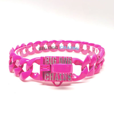 The Neon Pink Dog Collar | Big Dog Chains