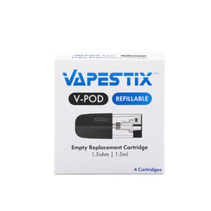 Vapestix V-POD Empty Refillable Cartridge (4 Pack)