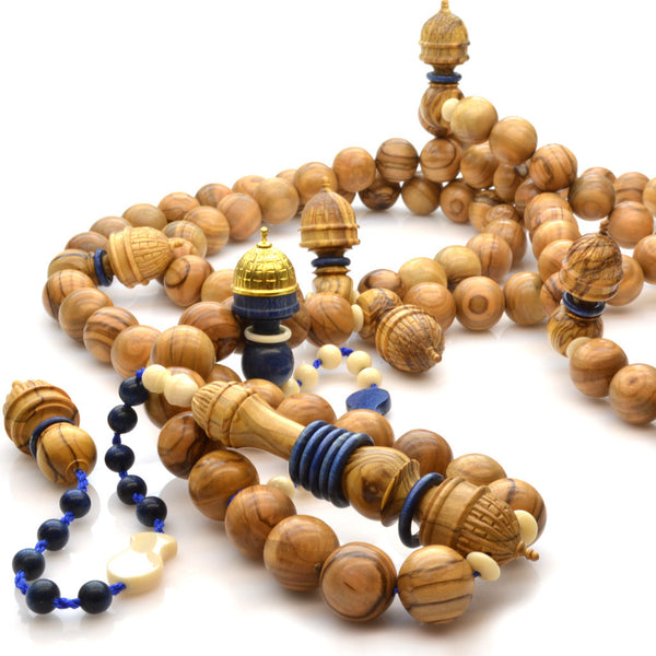 Dome of the Rock inspired Olivewood Tasbih