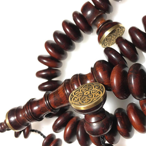 16mm Snakewood with hand engraved details in solid brass.
