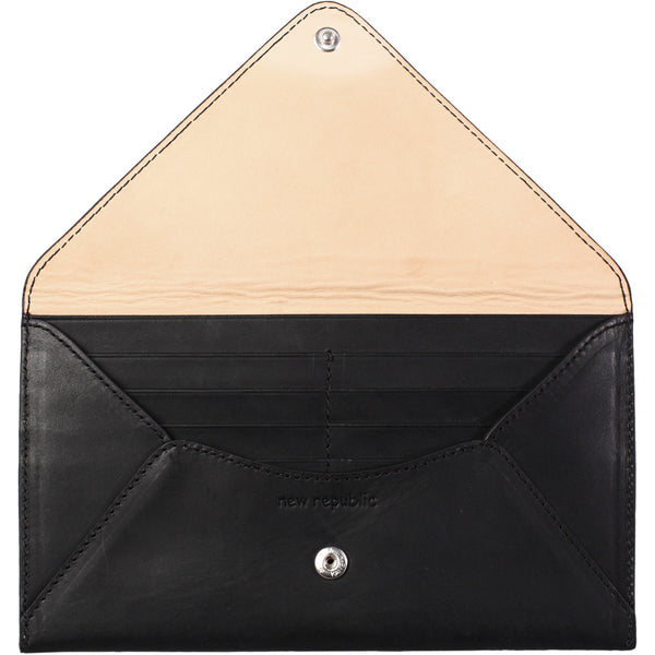 hand made envelop credit card wallet genuine italian leather