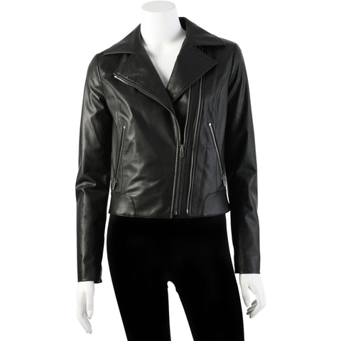 biker jacket, italian leather