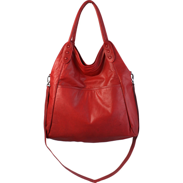 Soft leather tote is the perfect carry all for the urban fashionista