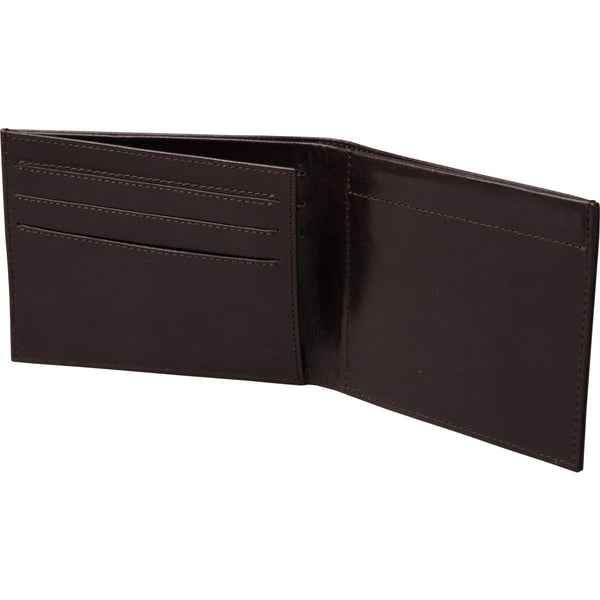 chocolate brown slim leather wallet