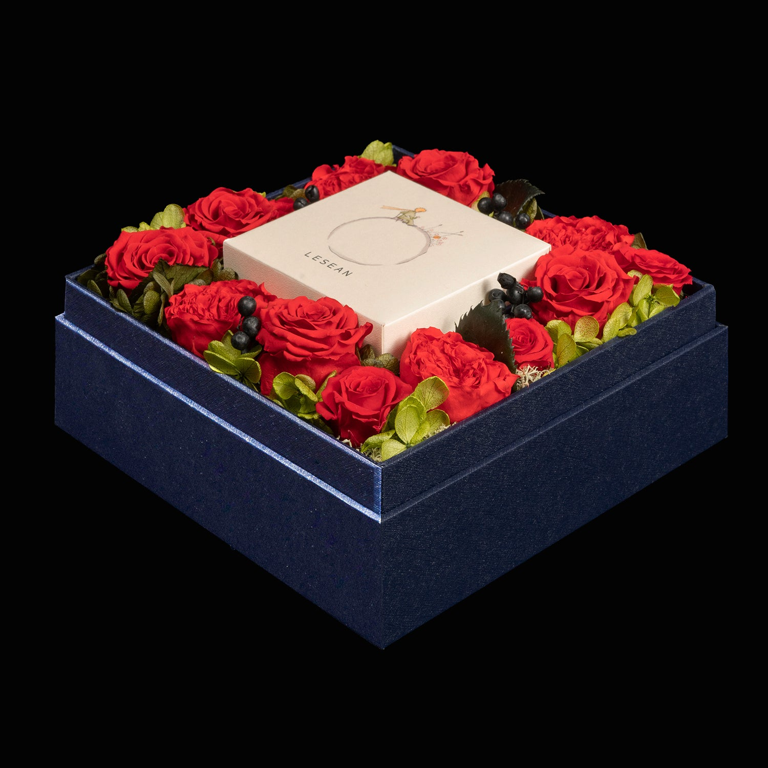 LESEAN ®️ x LE PETIT PRINCE®️ Preserved Flower Mooncake Box Set (1 pc special Edition) - Bright Red