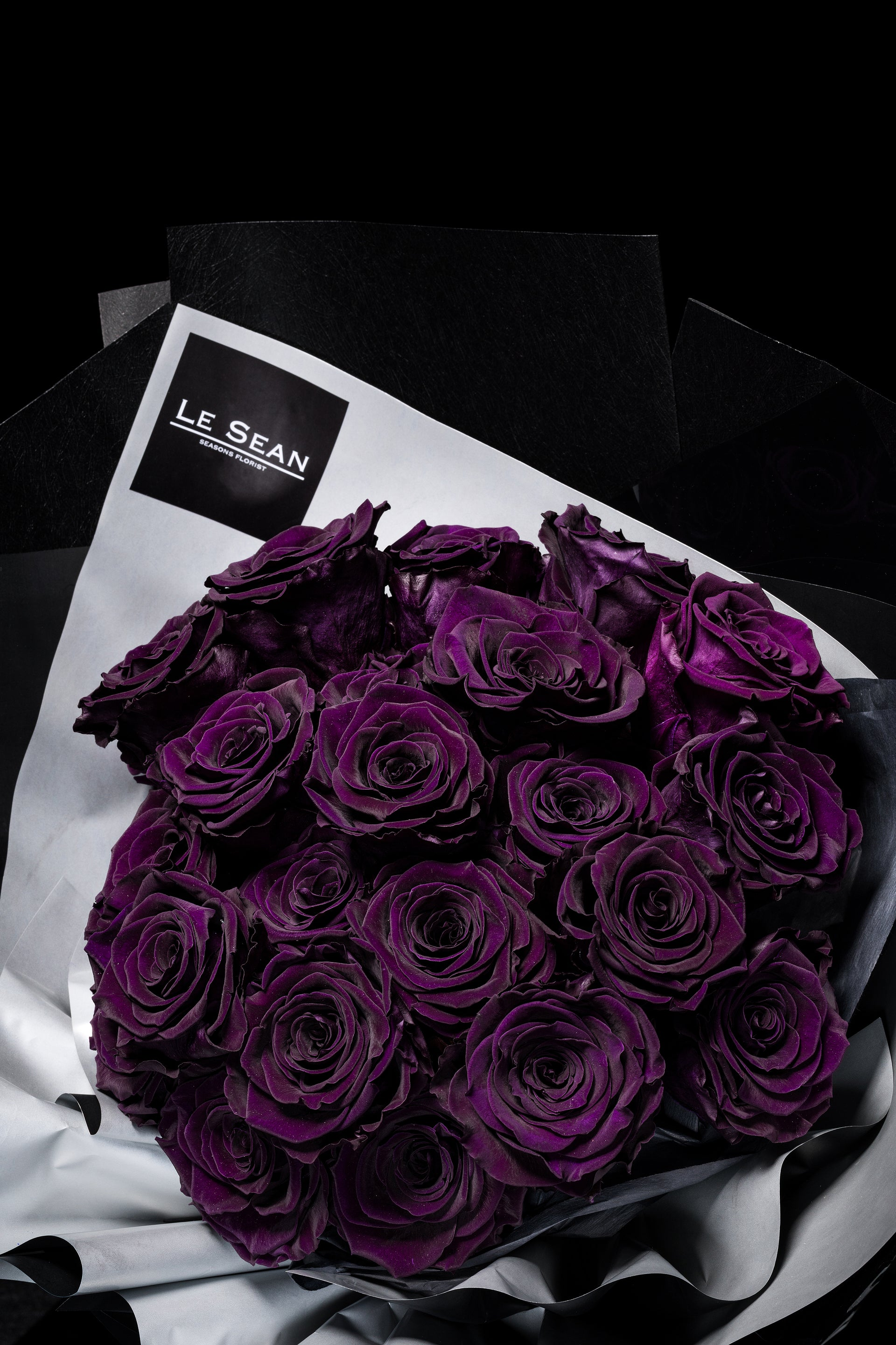 Le Sean Preserved Bouquet - Royal Purple
