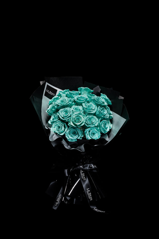 Le Sean Preserved Bouquet - Turquoise