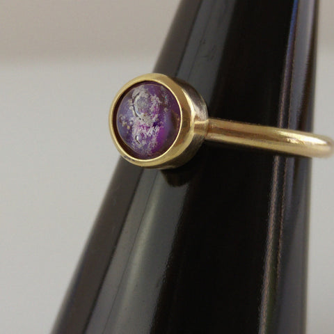 Ash/Cremains Set In 9ct Gold Ring