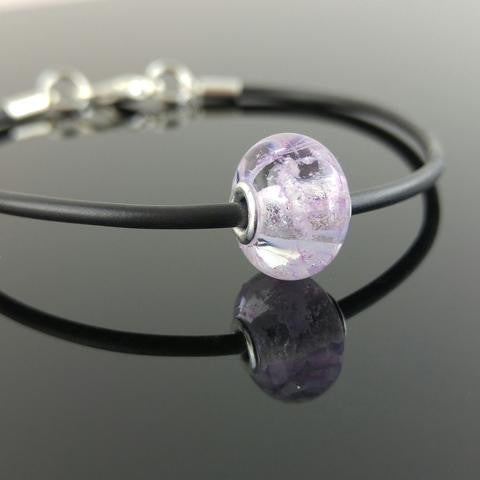 Ash/Cremains In Glass Bead Bracelet (2.2mm Hole)