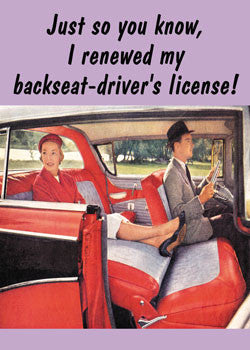 3-MA0116 - Backseat driver's license