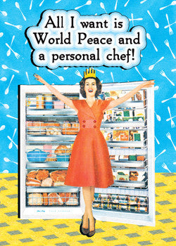 3-MA0737 - World Peace and a Personal Chef