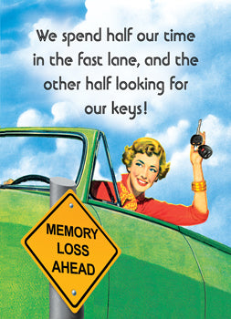 6-GC0805 - We spend half our time in the fast lane and half looking for our keys!