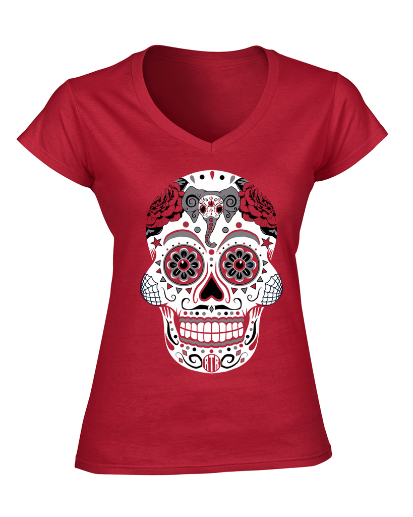 Alabama Crimson Tide Sugar Skull Shirt