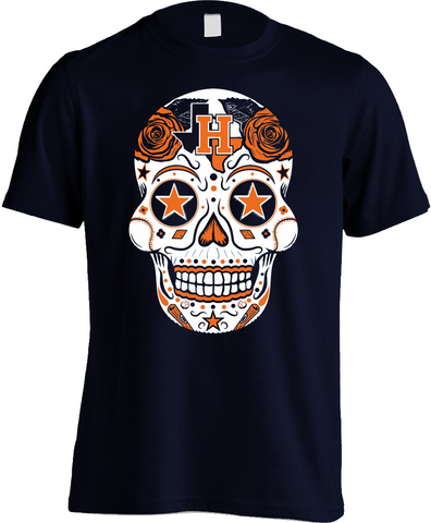 Houston Baseball Sugar Skull