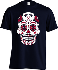Atlanta Baseball Sugar Skull