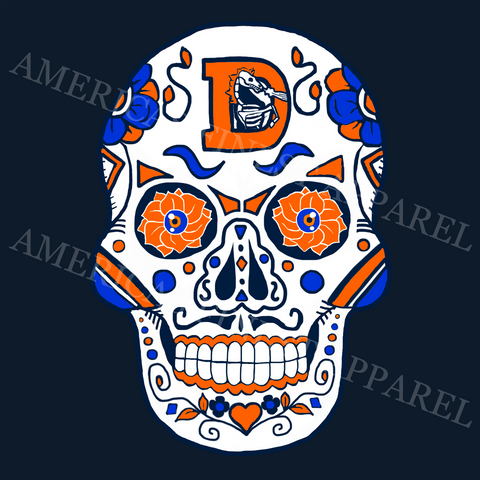 Denver Football Sugar Skull