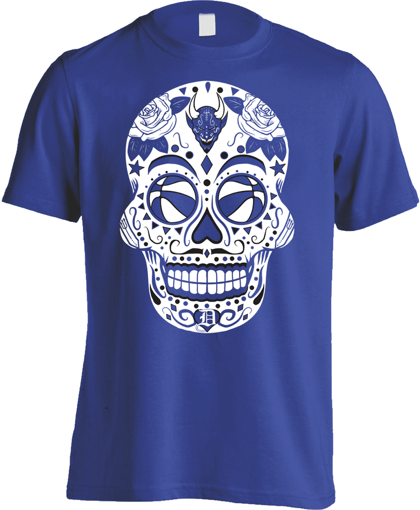 Blue Devil Sugar Skull Shirt-Men's