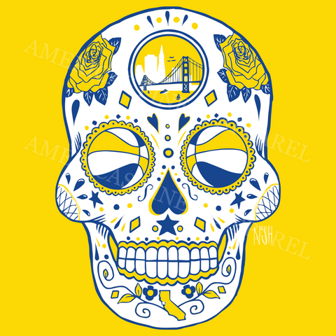 Golden State Basketball Sugar Skull