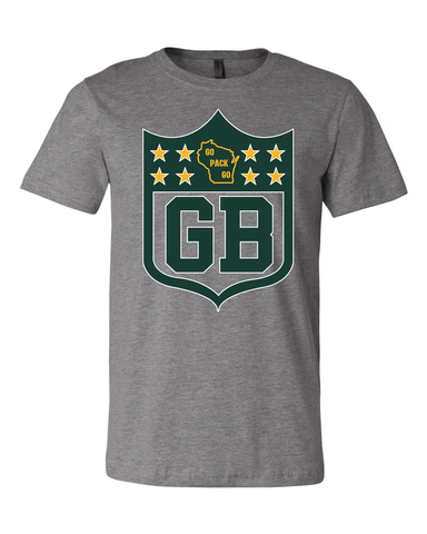 Green Bay Packer Fans Inspired Shield Shirt