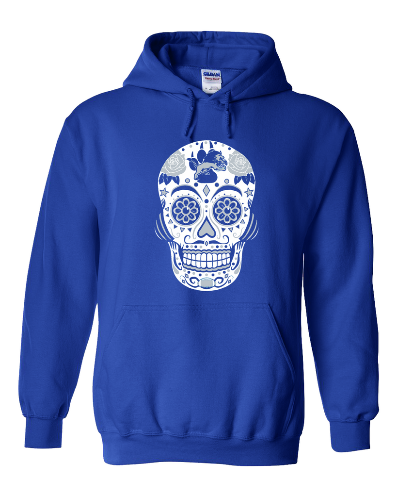 Detroit Football Sugar Skull hoodie