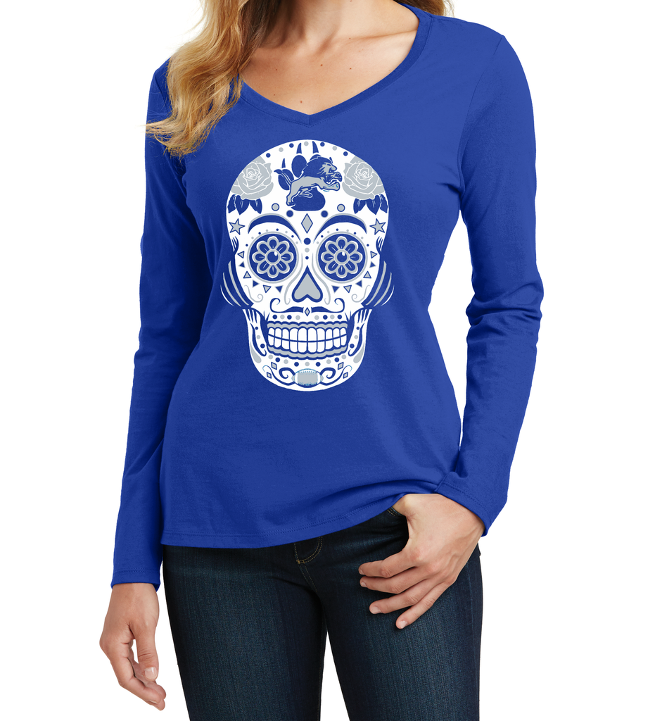 Detroit Football Sugar Skull