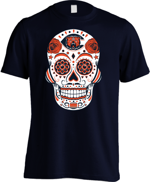 Chicago Football Sugar Skull